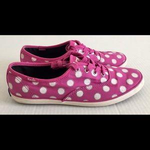 KEDS Canvas Pink White Blue Casual Shoes Sz 7.5